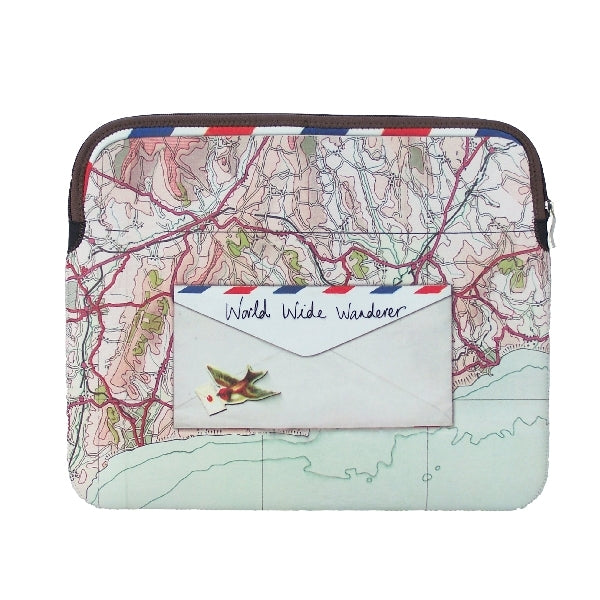 Paper Plane Map Laptop Sleeve - House of Disaster at Destination Fashion