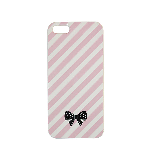 Beautiful Bow Pink Stripe Iphone 5 Cover - Bombay Duck at Destination Fashion