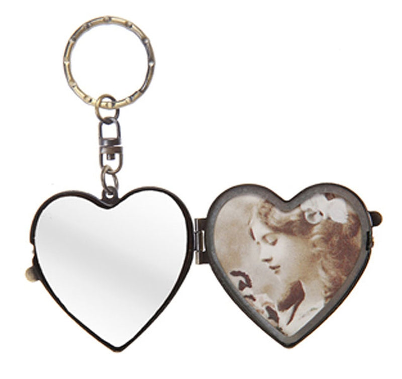 Postcard Bird Heart Shaped Keyring - Sass and Belle at Destination Fashion