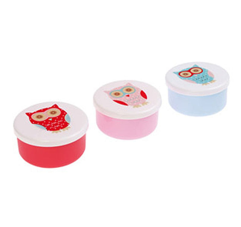 Small Round Owl Lunch Boxes - Set of 3 pcs - Sass and Belle at Destination Fashion