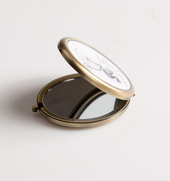Go Somewhere You Have Never Been Before Squirrel Compact Mirror - Sass and Belle at Destination Fashion
