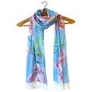 & Sew On Blue Flower Scarf - House of Disaster at Destination Fashion