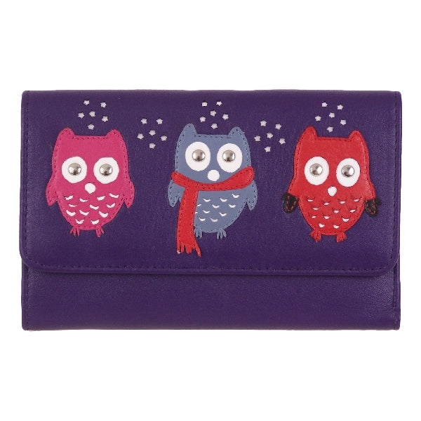 Leather Kyoto Owl Winter Snow Wallet - Mala Leather at Destination Fashion