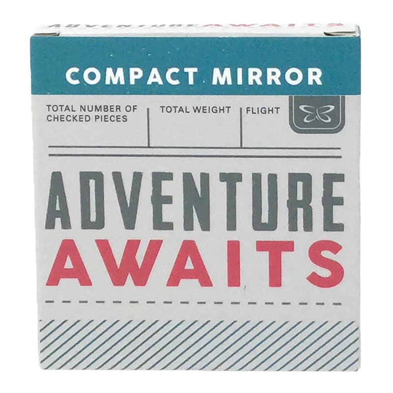 'So Many Places' Compact Mirror - Adventure Awaits at Destination Fashion