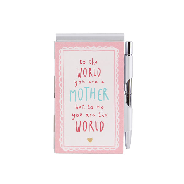 World's Best Mum Pink Mini Notebook & Pen - Destination Fashion at Destination Fashion