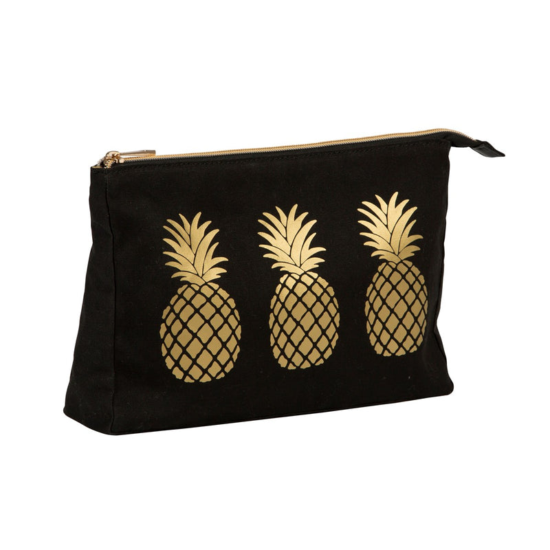 Gold Pineapple Wash Bag - Sass and Belle at Destination Fashion