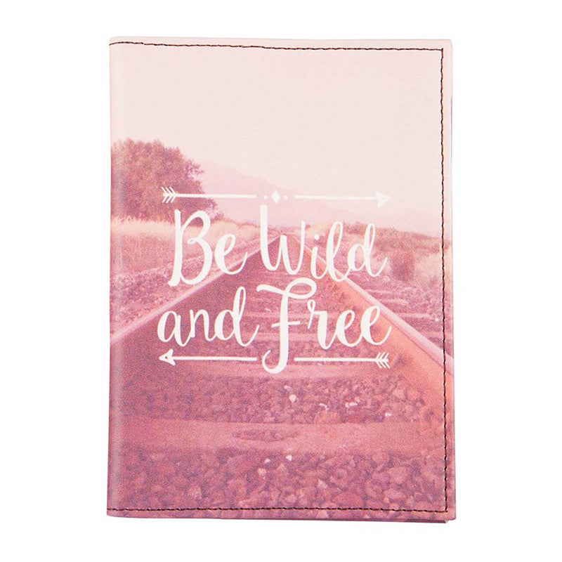 Wanderlust Adventure 'Be Wild & Free' Passport Holder - Sass and Belle at Destination Fashion