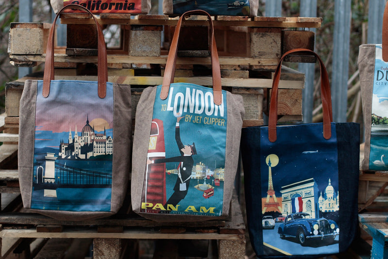 Prague Vintage Travel Design Shoulder Bag - AW Accessories at Destination Fashion