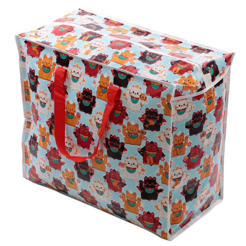 Lucky Cat Laundry & Storage Bag - Puckator at Destination Fashion