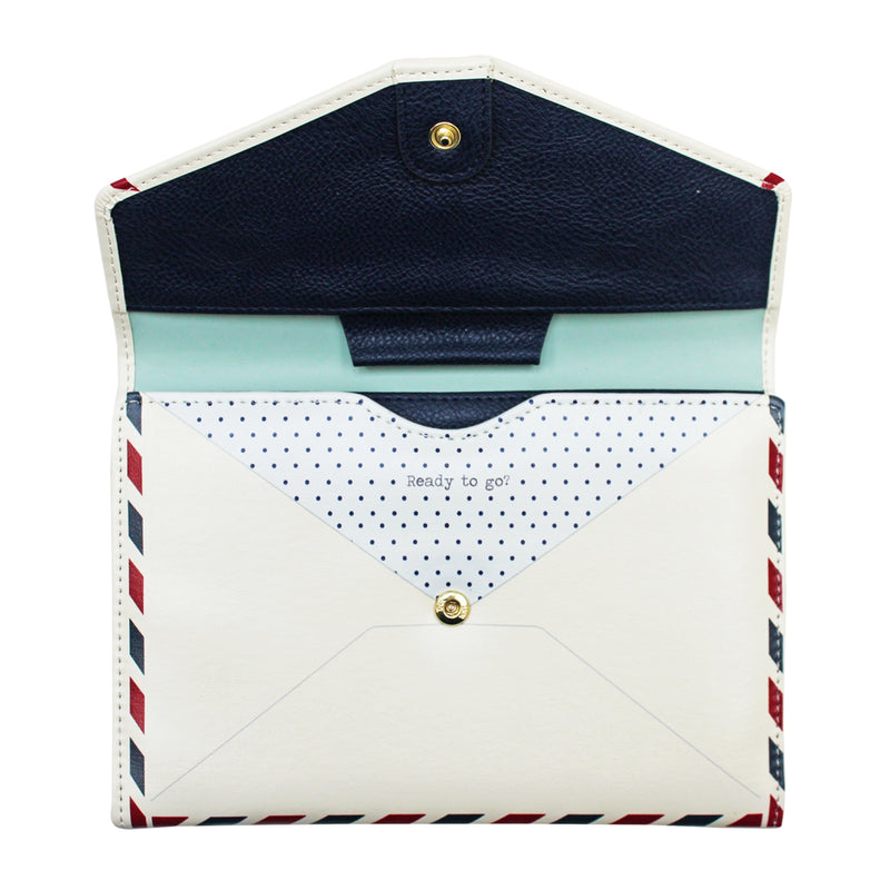 Paper Plane Travel Wallet Envelope - House of Disaster at Destination Fashion