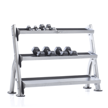Load image into Gallery viewer, Evolution 2-Tier Tray Dumbbell / Kettlebell Rack