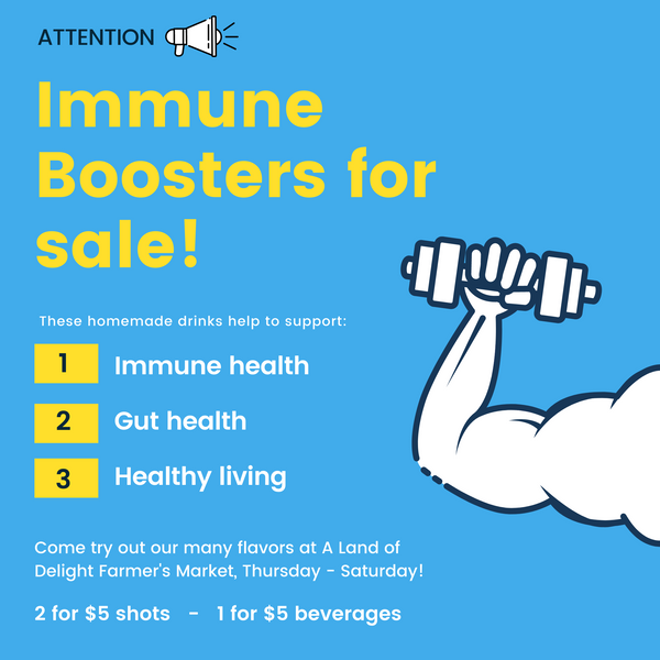 Immune Boosters for Sale! Home Made - 2 for $5 Shots 1 - $5 Beverages