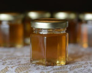 1.5 Ounce Hex Jar of Organic Honey