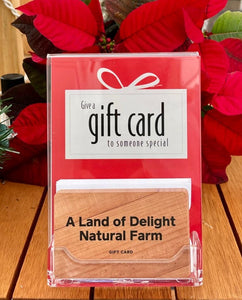 A Land of Delight Natural Farm Gift Card