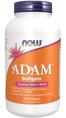 Bottle of Adam's men's multi vitamins