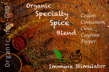 Load image into Gallery viewer, Organic Specialty Spice Blend Immune Booster: *Ceylon Cinnamon, *Clove, & *Cayenne Pepper