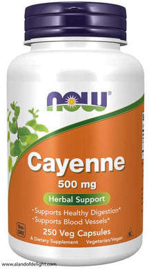 Vitamin Bottle Cayenne 500 mg - 250 Veg Capsules