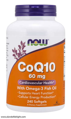 Picture of CoQ10 60 mg with Omega-3 Fish Oil - 240 Softgel Vitamin Bottle