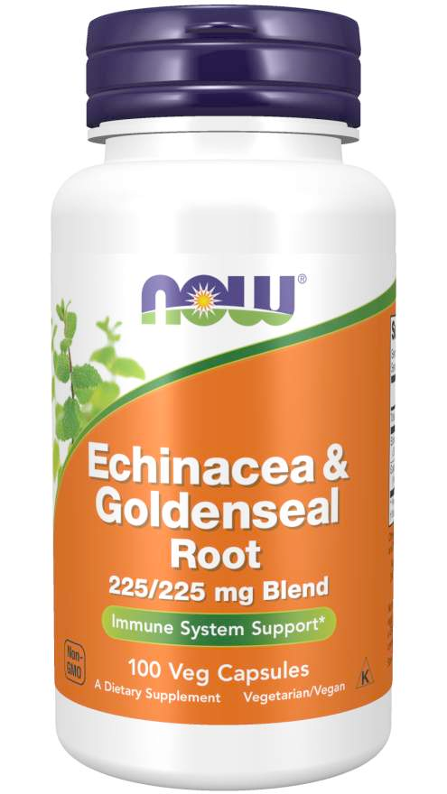 Picture of Echinacea & Goldenseal Root - 100 Veg Capsule Vitamin Bottle