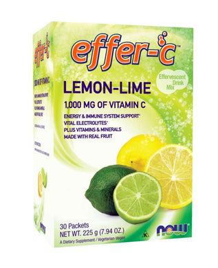 Picture of Yellow and Green Box of Effer-C™ Lemon Lime Packets