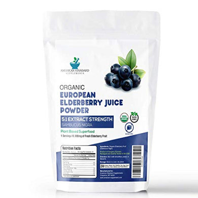Packet of Organic Elderberry Juice Powder 5:1 Strength Extract