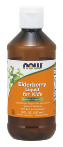 Picture of Orange Now Brand Liquid Vitamin Bottle of Elderberry Liquid for Kids