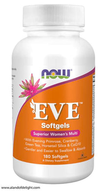 Picture of Orange Now Brand Vitamin Bottle of Eve™ Women's Multiple Vitamin - 180 Softgels (2 month supply)