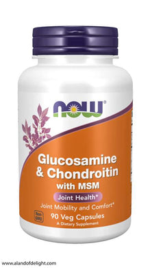 Picture of Now Brand Vitamin Bottle of Glucosamine & Chondroitin with MSM
