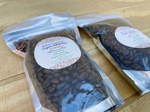 Two Bags of Gourmet Organic Medium-Dark Roast Whole Bean Coffee Beans