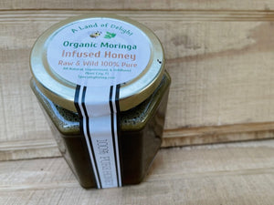 Specialty Gourmet Honey: Organic Moringa Infused Raw Honey - 12oz Jar