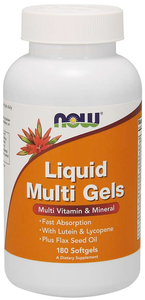 Picture of Now Brand Vitamin Bottle of Liquid Multi Gels - 180 Softgels (3 Month Supply)