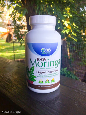 Vitamin Bottle of One Planet Nutrition Moringa Capsules