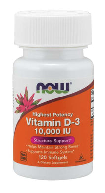 NOW VITAMINS - Vitamin D-3 10000 IU Softgels