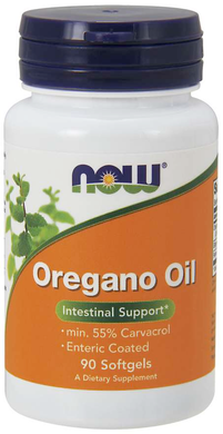 Vitamin Bottle of Now Brand Oregano Oil - 90 Softgels