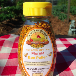 Raw Wild Florida All Natural Bee Pollen - 4oz Bottle