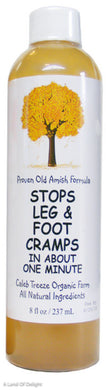 8fl oz bottle of Stops Leg Cramps by Caleb Treeze