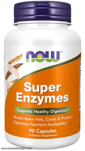 NOW BRAND VITAMINS - Super Enzymes - 90 Capsules
