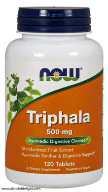 NOW VITAMINS - Triphala 500 mg - 120 Tablets