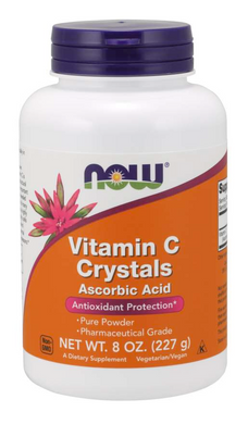 NOW VITAMINS - Vitamin C Crystals - 8 oz. Powder