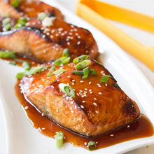 Load image into Gallery viewer, Example of Honey Glazed salmon