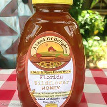 Load image into Gallery viewer, Raw Local Florida Wildflower Honey 2lb bottle
