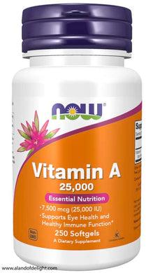 NOW VITAMINS - Vitamin A 25,000 - 250 Softgels