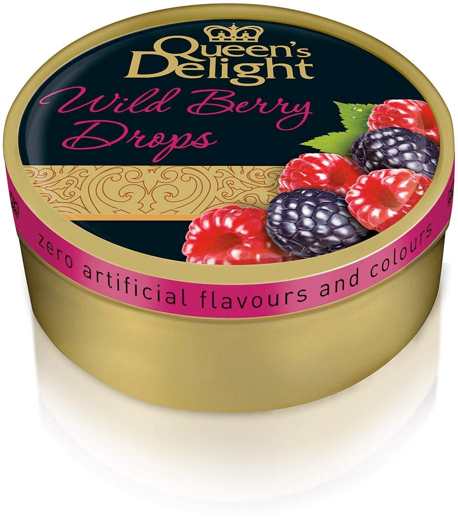 Real Fruit Juice Hard Candy Wild Berry Drops Tin, 5.3 Ounces (150g)