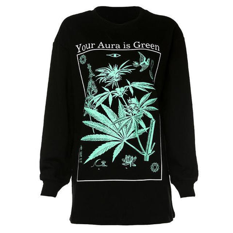 Sweat Gothique Marijuana