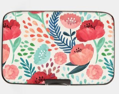 Armored Wallet - Painted Poppies