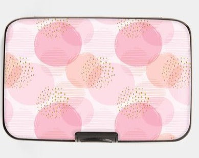 Armored Wallet - Pink Polka Dots