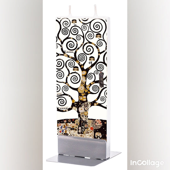 Candle - Klimt Tree of Life Between Flatzy Candle