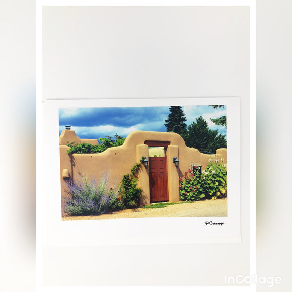 Cards - Gate With Adobe Wall