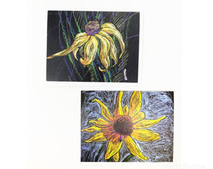 Card -  Sunflower (Set Of Two Blank Cards)