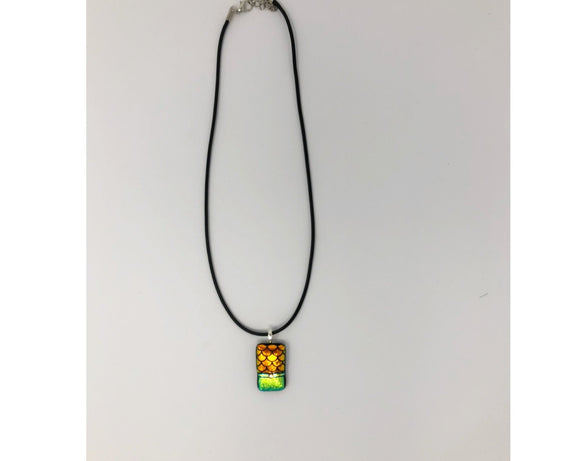 Necklace -  Dichroic Glass (Small Rectangle)